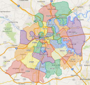 Nashville Zip Codes